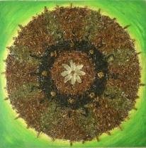 Mandala de te/upcycled tea Mandala