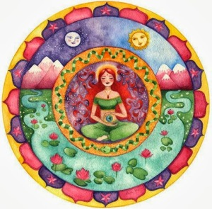 mandala mujer sanando la tierra