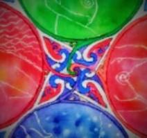 Mandala femenino detalle central